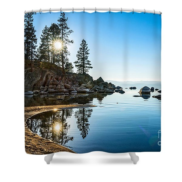 Sand Harbor Cove Shower Curtain