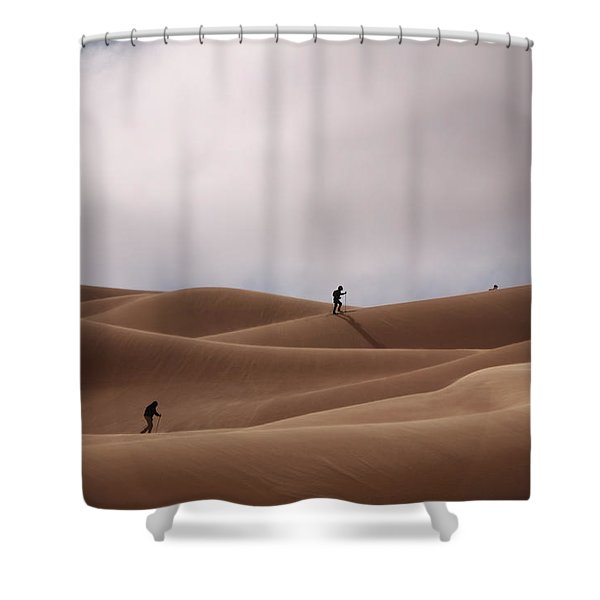 Sand Skiing Shower Curtain