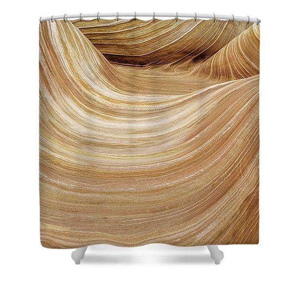 Sandstone Lines Shower Curtain