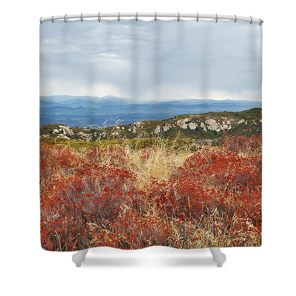 Sandstone Peak Fall Landscape Shower Curtain