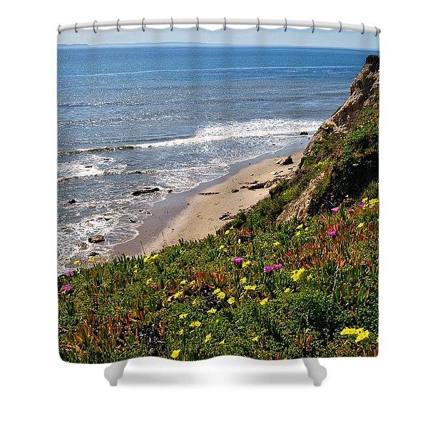 Santa Barbara Beach Beauty Shower Curtain
