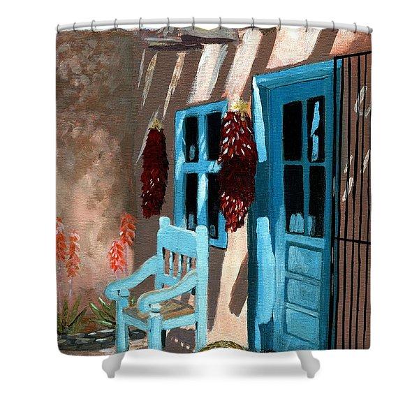 Santa Fe Courtyard Shower Curtain