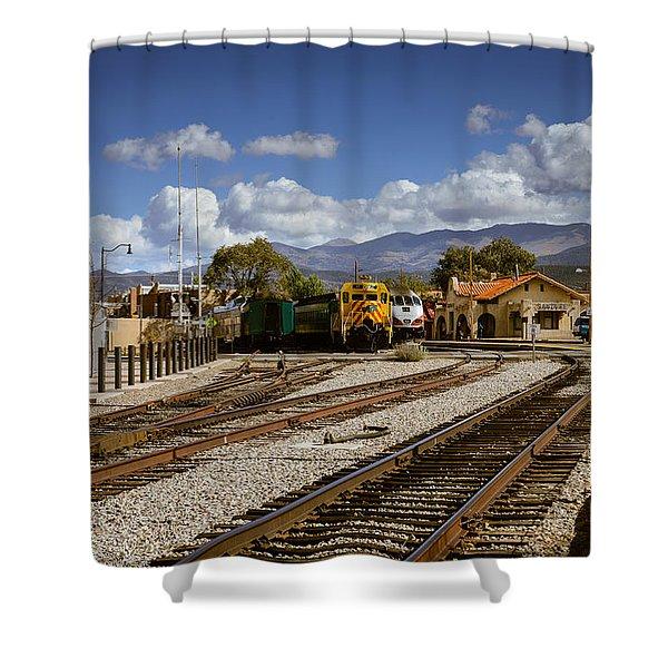 Santa Fe Rail Road Shower Curtain