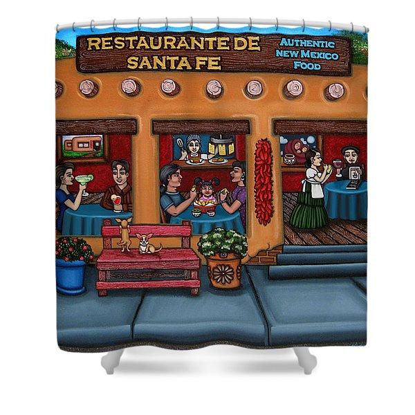 Santa Fe Restaurant Shower Curtain