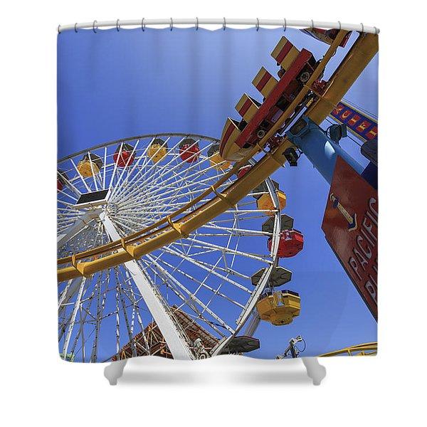 Santa Monica Pier Pacific Plunge Shower Curtain