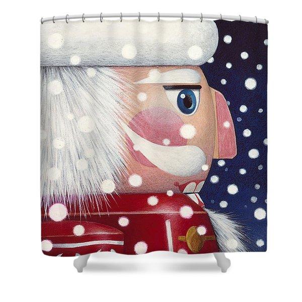 Santa Nutcracker Shower Curtain