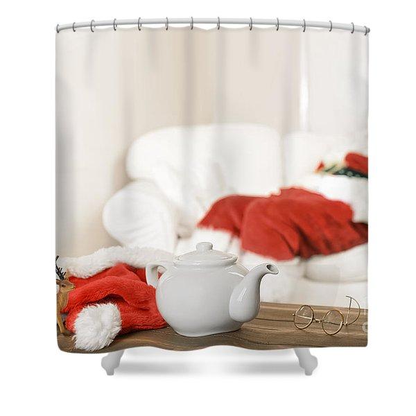 Santa Resting Shower Curtain