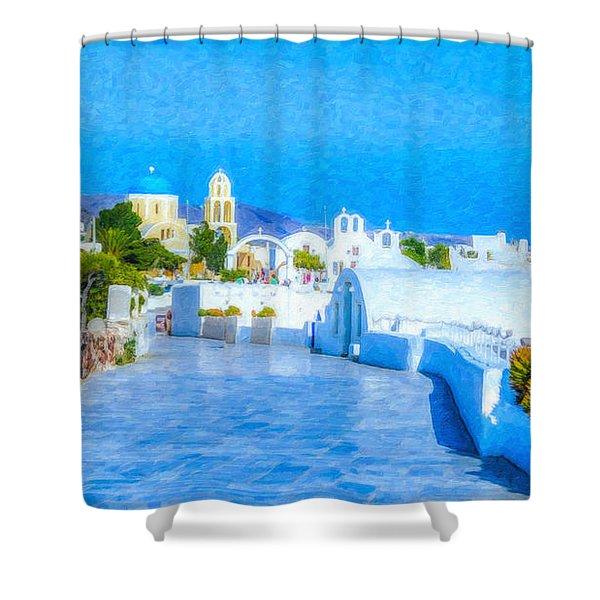 Santorini Grk4120 Shower Curtain