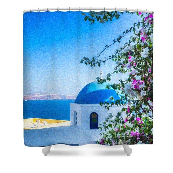 Santorini Grk4166 Shower Curtain
