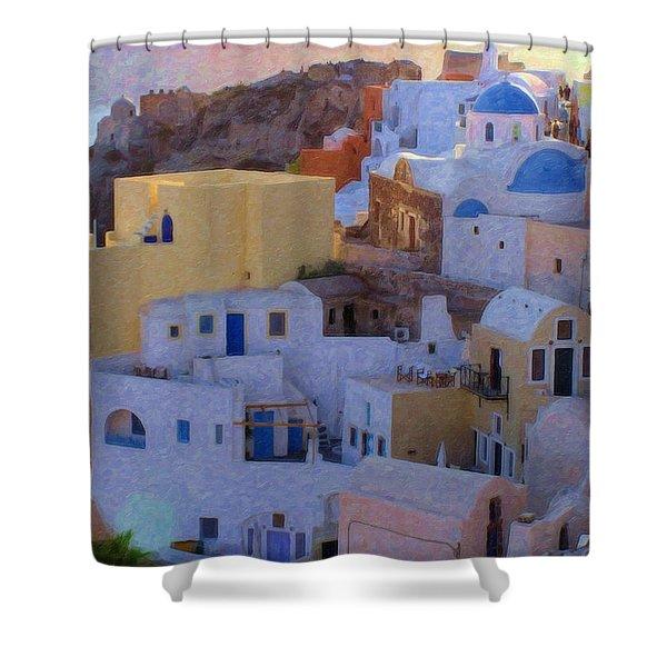 Santorini Grk6424 Shower Curtain