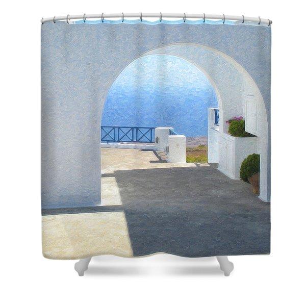 Santorini Grk8681 Shower Curtain