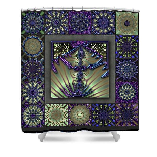 Sapphire Wind Redux  Shower Curtain