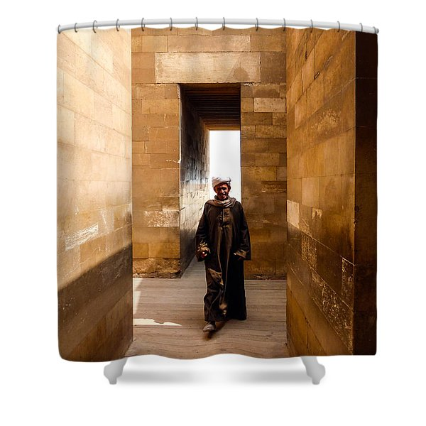 Saqqara Temple Shower Curtain