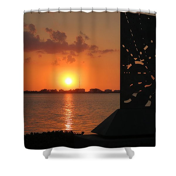 Sarasota Bay Sunset Shower Curtain