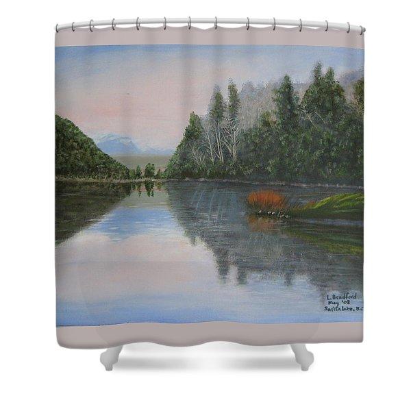 Sarita Lake On Vancouver Island Shower Curtain