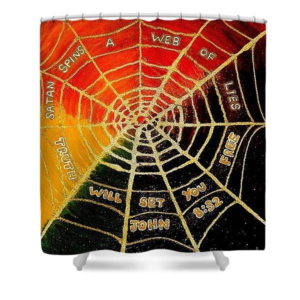 Satan's Web Of Lies Shower Curtain