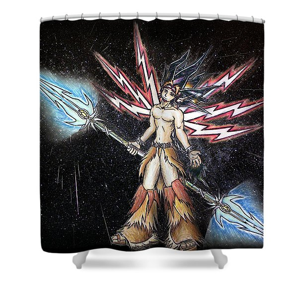 Satari God Of War And Battles Shower Curtain