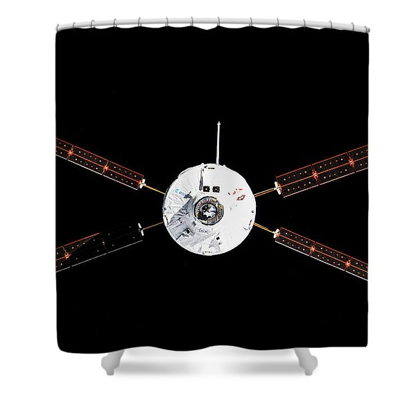 Satellite In Space Shower Curtain