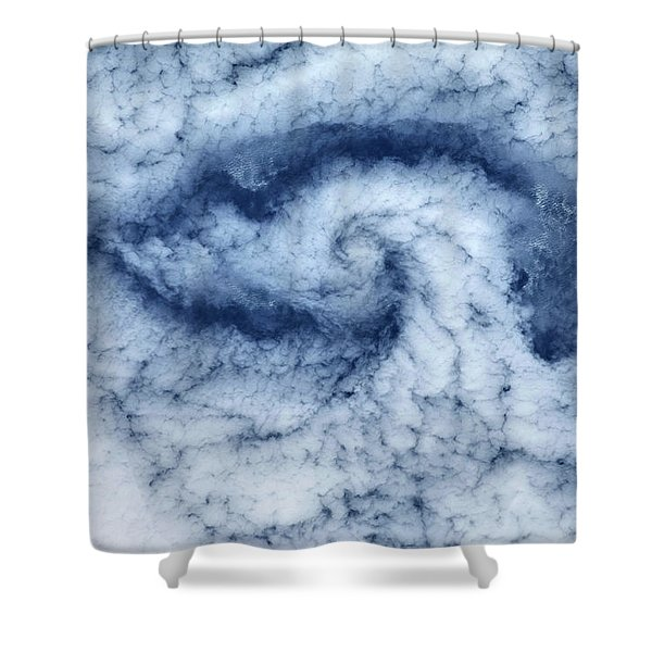 Satellite View Of Cloud Spiral Shower Curtain