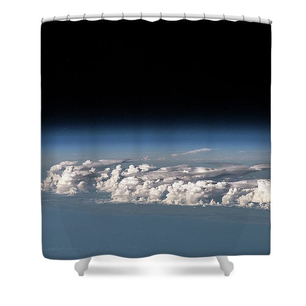 Satellite View Of Clouds Shower Curtain