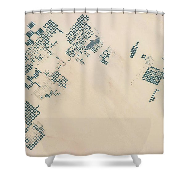 Satellite View Of Fields In North Shower Curtain