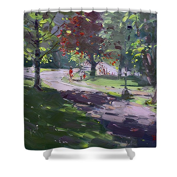 Saturday In The Park Shower Curtain