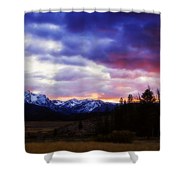 Sawtooth Sunset Panorama Shower Curtain
