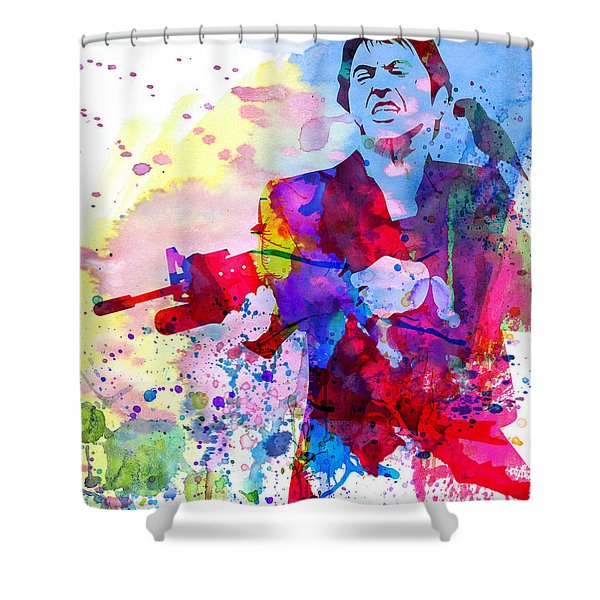 Scar Watercolor Shower Curtain