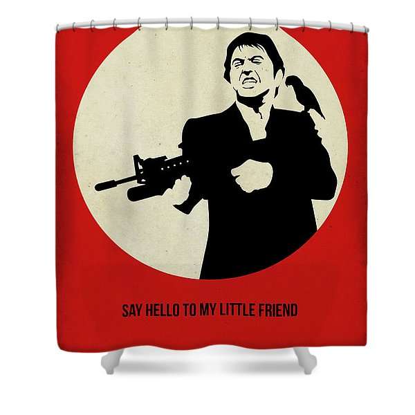 Scarface Poster Shower Curtain
