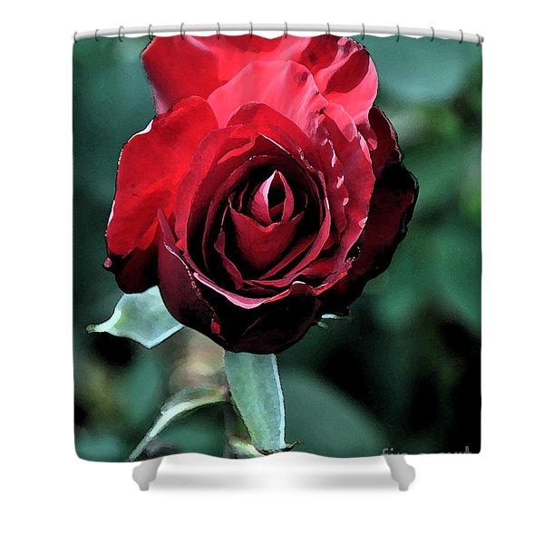 Scarlet Rose Shower Curtain