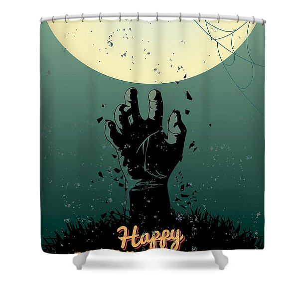 Scary Halloween Shower Curtain