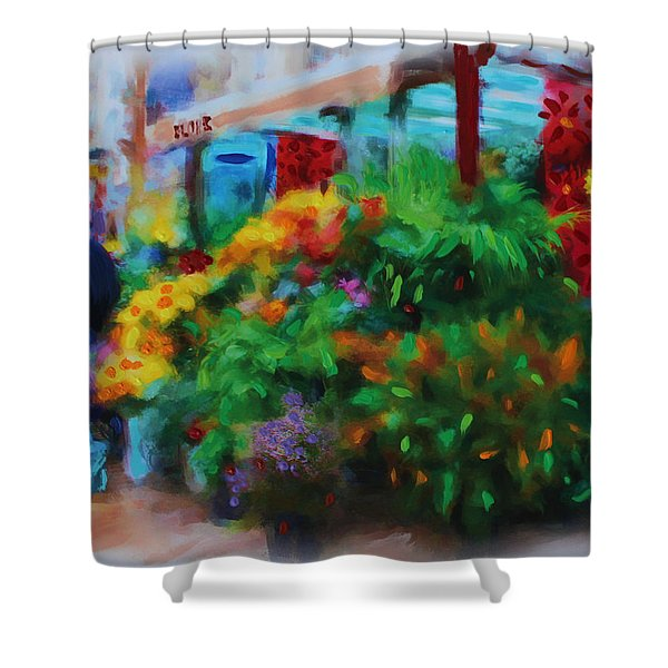 Scene From La Rambla Shower Curtain