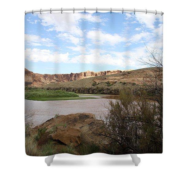 Scenic Upper Colorado River Shower Curtain