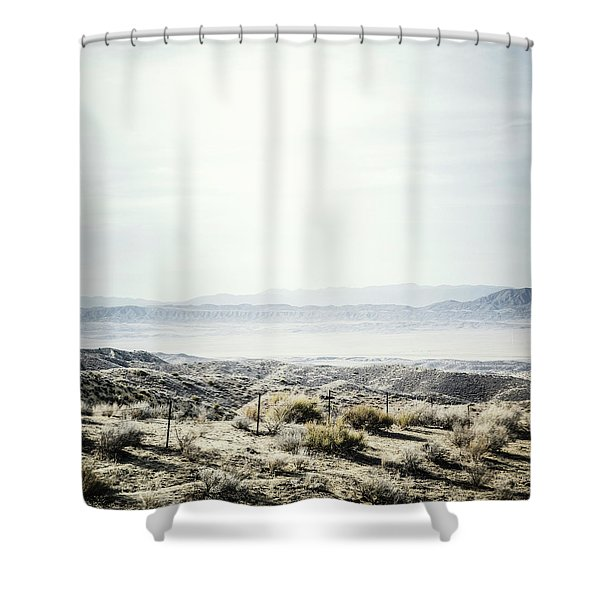 Scenic View Of The  Carrizo Plain Shower Curtain