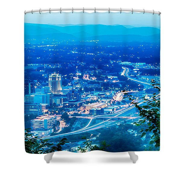 Scenics Around Mill Mountain Roanoke Virginia Usa Shower Curtain