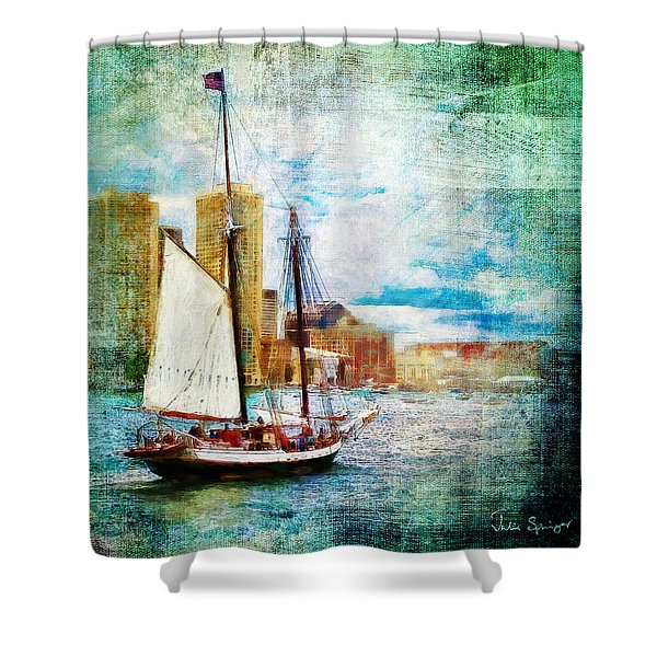 Schooner Bay Shower Curtain