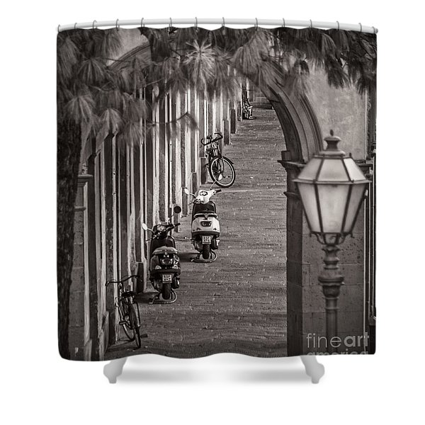 Scooters And Bikes Shower Curtain