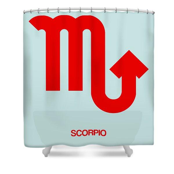 Scorpio Zodiac Sign Red Shower Curtain