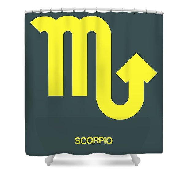 Scorpio Zodiac Sign Yellow Shower Curtain