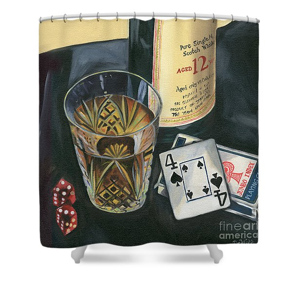 Scotch And Cigars 2 Shower Curtain
