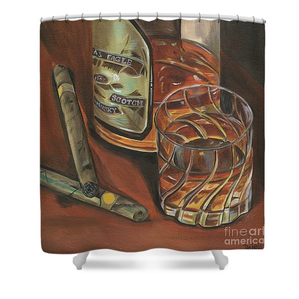 Scotch And Cigars 3 Shower Curtain