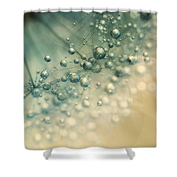 Sea Green Sparkles Shower Curtain