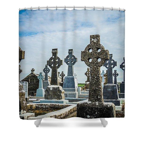 Sea  Of Celtic Crosses Shower Curtain