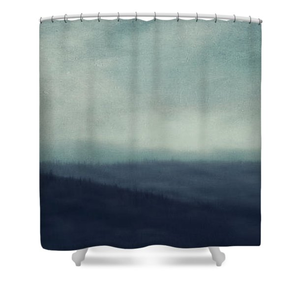 Sea Of Trees And Hills Shower Curtain