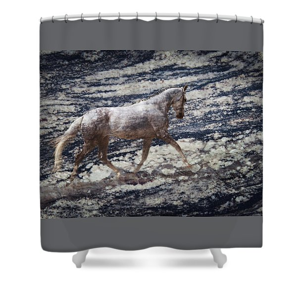 Shower Curtain featuring the photograph Sea Stallion by Melinda Hughes-Berland