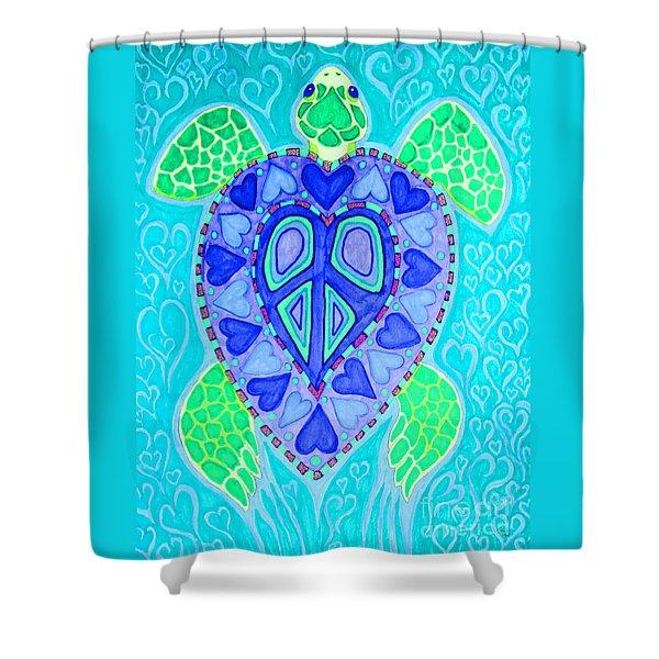 Sea Turtle Swim Shower Curtain