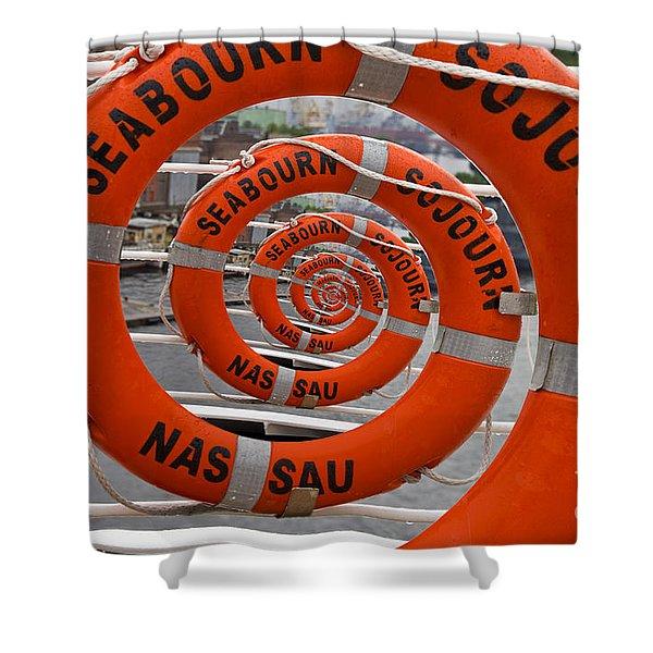Seabourn Sojourn Spiral. Shower Curtain