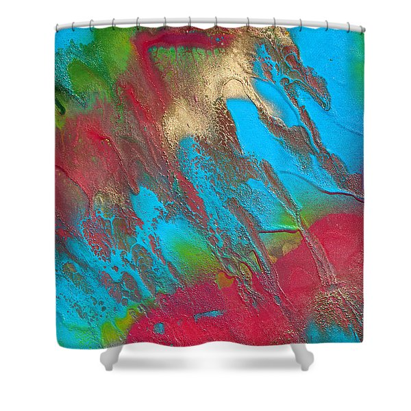 Seabreeze Abstract Painting Shower Curtain
