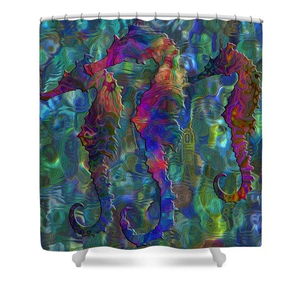 Seahorse 2 Shower Curtain