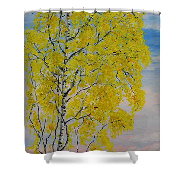 Seascape From Baltic Sea Shower Curtain